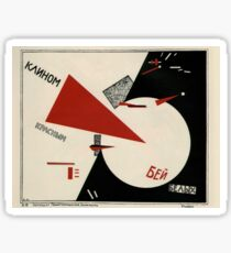 El Lissitzky - Beat the Whites with the Red Wedge! (1920) Sticker