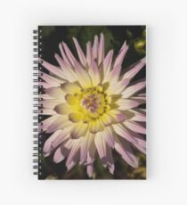 Floral Dahlia Head Spiral Notebook