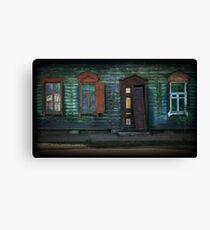Grunge Wooden House Door Outdoors Canvas Print