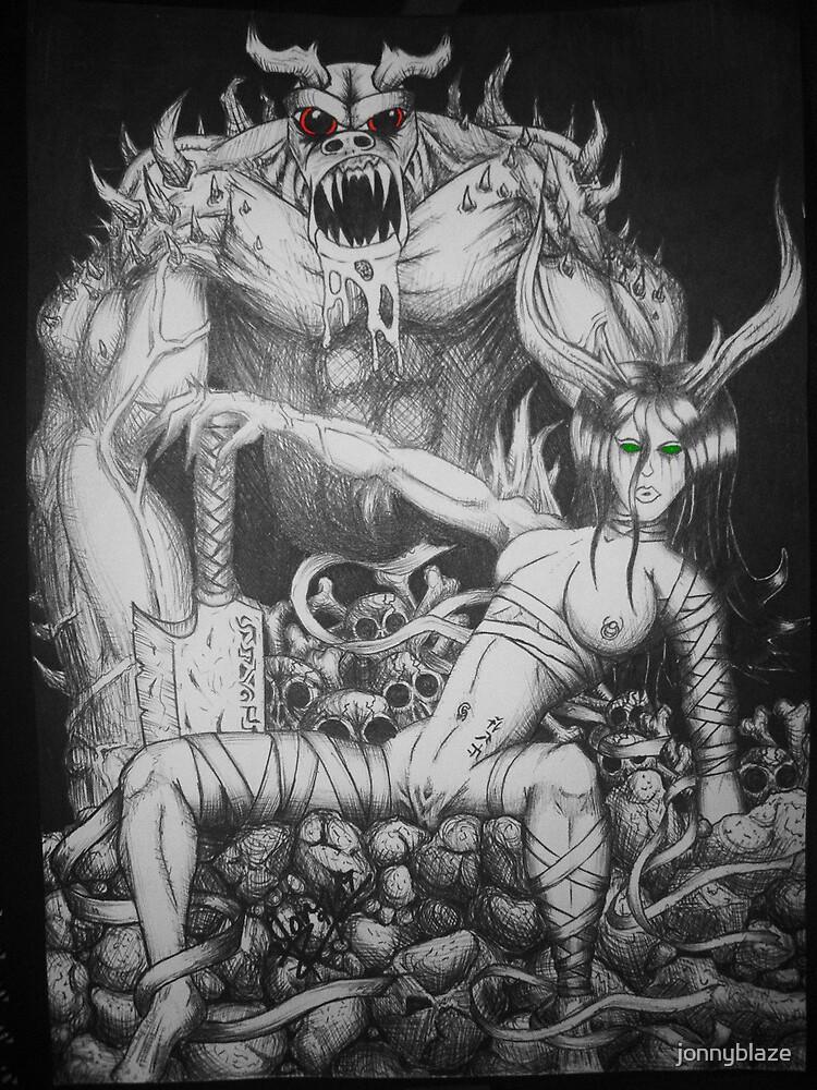 demon chick by jonnyblaze