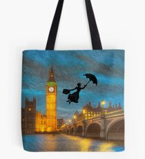 Magical Nanny Over London  Tote Bag
