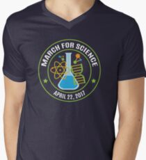 March for Science 2017 Men's V-Neck T-Shirt