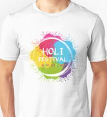 holi - music & Colours - festival of colors - muslim holiday T-Shirt