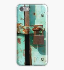 Grunge Old Paint Made In England Padlock Door iPhone Case/Skin