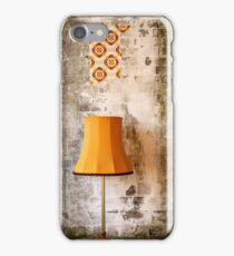 Retro Grunge Yellow Lampshade Old Painted Wall  iPhone Case/Skin