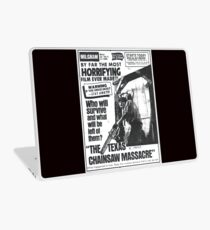 The Texas Chainsaw Massacre Vintage Newspaper Ad Laptop Skin
