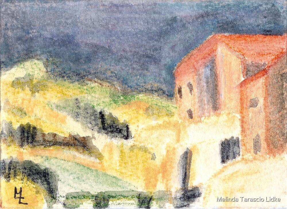 Mountain Living Scape Watercolor 426 by Melinda Tarascio Lidke