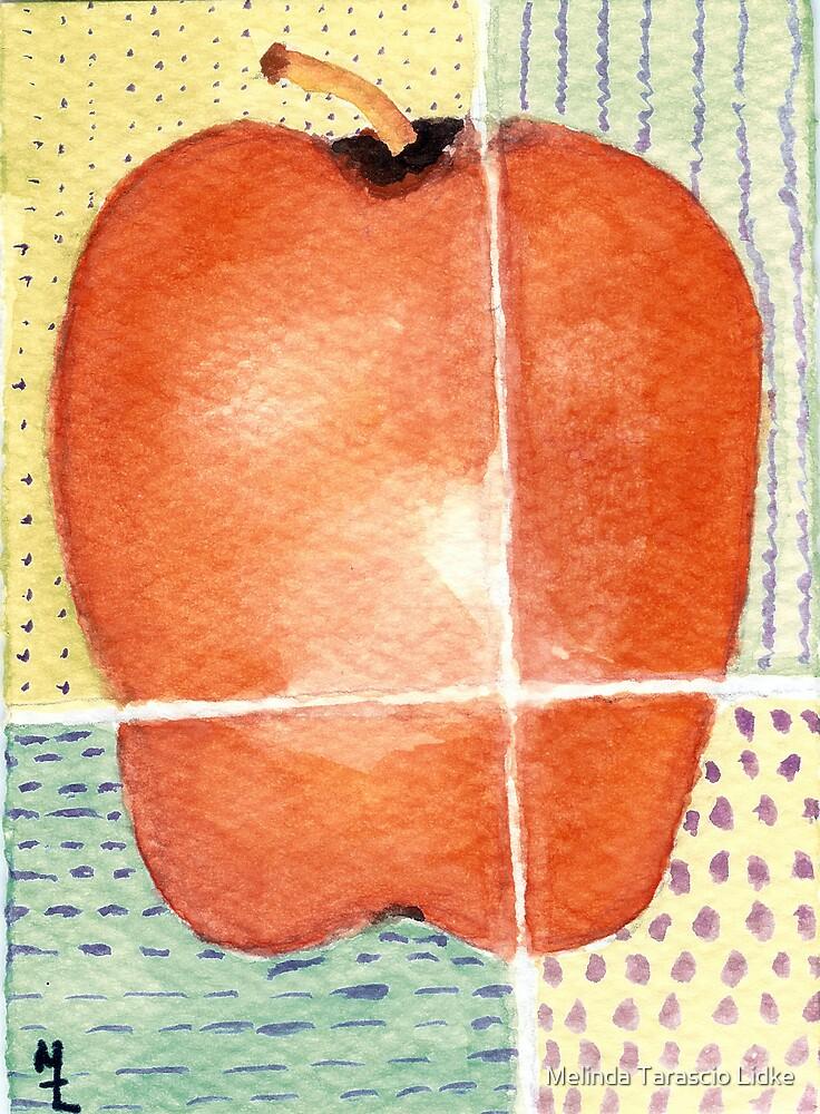 Apple Quarters Watercolor 124 by Melinda Tarascio Lidke