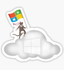 Microsoft Ninja Cat Azure Cloud Sticker