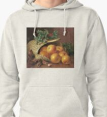 Eloise Harriet Stannard - Still Life With Apples, Hazelnuts And Holly Pullover Hoodie