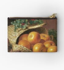 Eloise Harriet Stannard - Still Life With Apples, Hazelnuts And Holly Studio Pouch