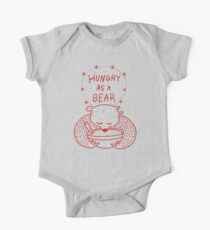 Hungry As A Bear (red outline) One Piece - Short Sleeve