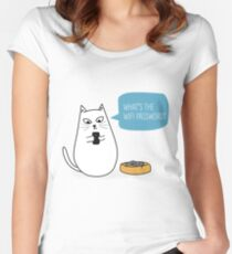 Wifi Cat Women's Fitted Scoop T-Shirt