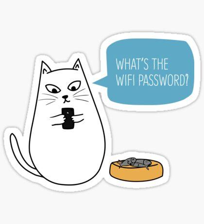 Wifi Cat Sticker