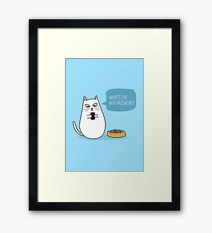 Wifi Cat Framed Print