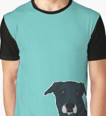 INKY / black lab mix / cute best friend black dog grey muzzle loving bff pet portrait Graphic T-Shirt