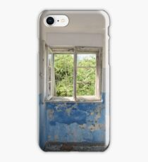 Grunge Old Window Frame Painted Wall Design iPhone Case/Skin