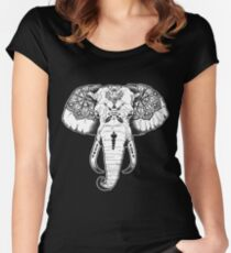 Elephant Tattooed Women's Fitted Scoop T-Shirt