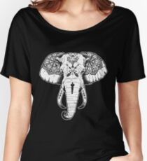 Elephant Tattooed Women's Relaxed Fit T-Shirt
