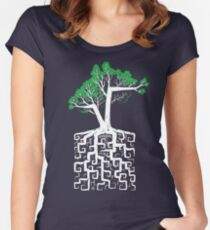 Square Root Women's Fitted Scoop T-Shirt