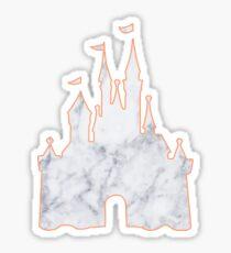 Castle Marble Silhouette Sticker