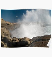 Peggys Cove Crashing Waves Poster