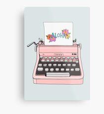 Lienzo metálico Máquina de escribir Aloha