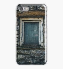 Old Painted Wooden Window Frame Stone Wall Building iPhone Case/Skin