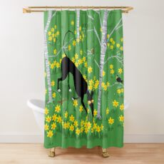 Daffodil Hound Shower Curtain