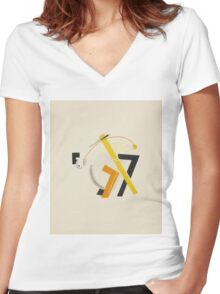 El Lissitzky - Old Man, His Head Two Paces Behind Women's Fitted V-Neck T-Shirt