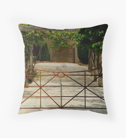 Villa Gate Throw Pillow