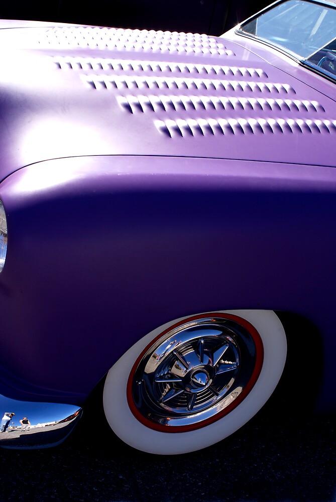 Purple Ford by Rod  Adams