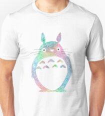 Rainbow Watercolor Totoro Unisex T-Shirt