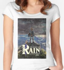 Zelda: Breath of the Wild - The Legend of Rain At Inconvenient Times Women's Fitted Scoop T-Shirt
