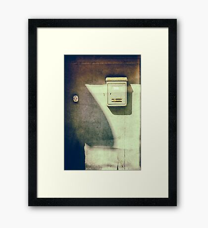 Mailbox and doorbell Framed Print
