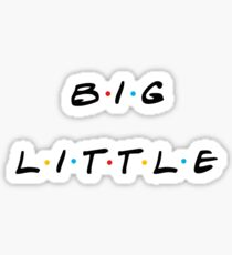 big little retro sticker pack Sticker