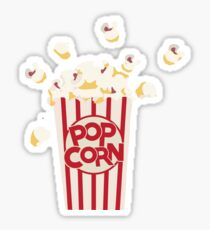 Retro Popcorn Sticker