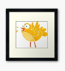 retro cartoon bird Framed Print