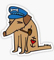 Alter Hund mit Pfeife, alter Seebär, old dog Sticker