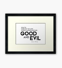 beyond good and evil - friedrich nietzsche Framed Print