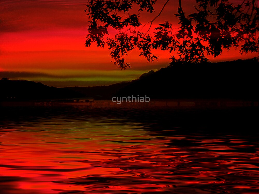 fantasy  red sunset by cynthiab