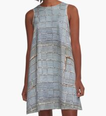 Glass Brick Wall A-Line Dress