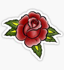 Traditional Rose Tattoo Design Sticker