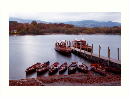 Derwentwater boats at dusk by cazjeff1958