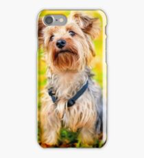 Cute Little Yorkie Yorkshire Terrier Dog iPhone Case/Skin