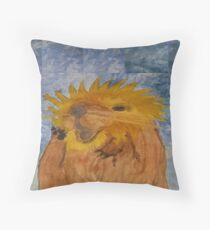 Otter Lion Throw Pillow