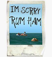 """I'm Sorry Rum Ham"" Always Sunny Quote  Poster"