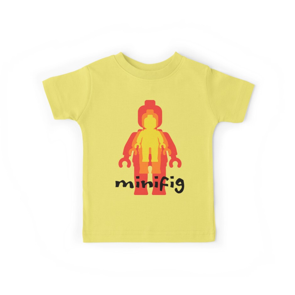 Yellow Orange Red Minifig  by Customize My Minifig