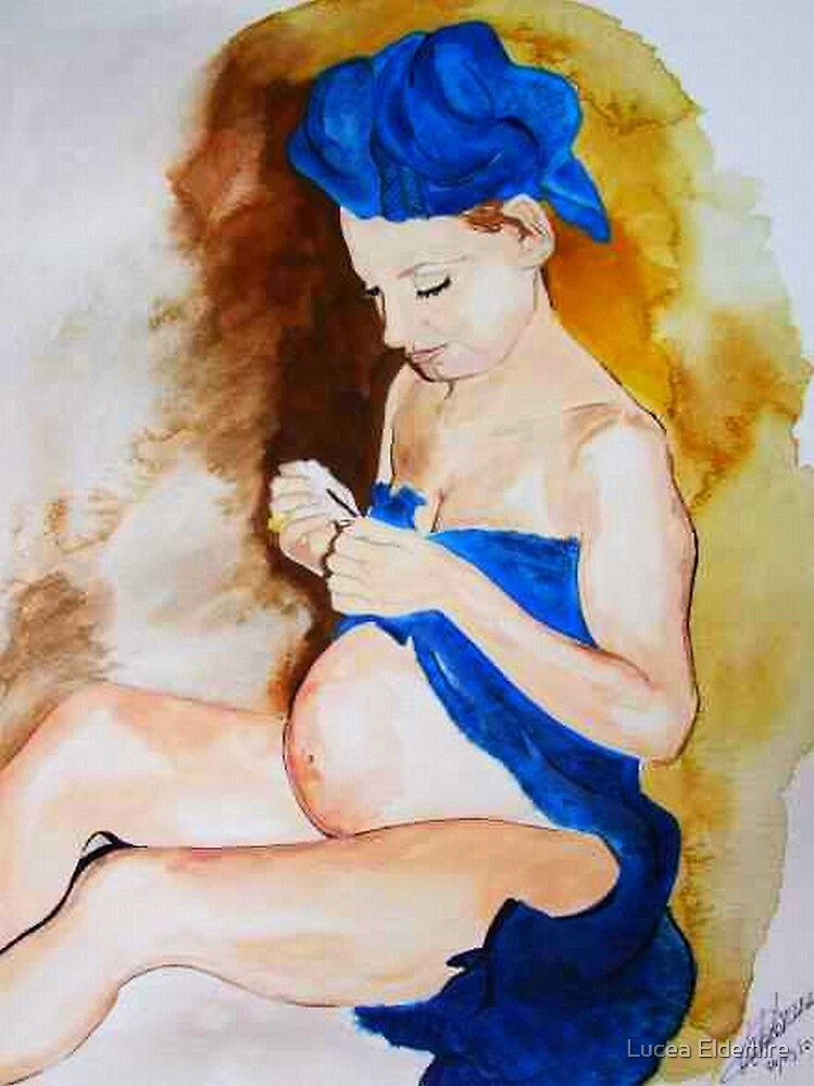 the blue madonna in waiting by Lucea Eldemire