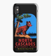 Bear Cub at North Cascades National Park Vintage Travel Decal iPhone Case